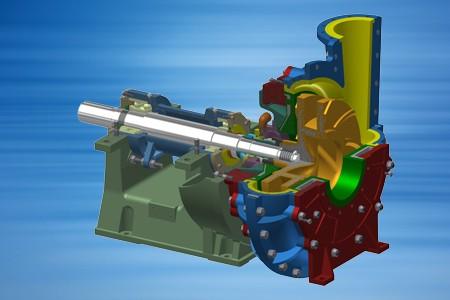 Horizontal armoured pump of the type HPK