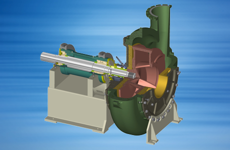 Horizontal armoured pump of the types KB/KBK/KBPL