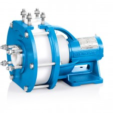 Material Plastic Design Centrifugal Pump, Free Flow PumpSizeDN 25Delivery rateQmax. = 20 m3/hDelivery headHmax. = 50 mTemperature-50 °C to +130 °CNominal pressure10 bar